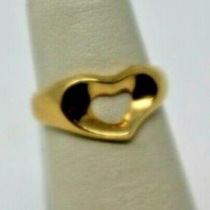 18KT Yellow Gold Ladies Tiffany and Co Heart Ring